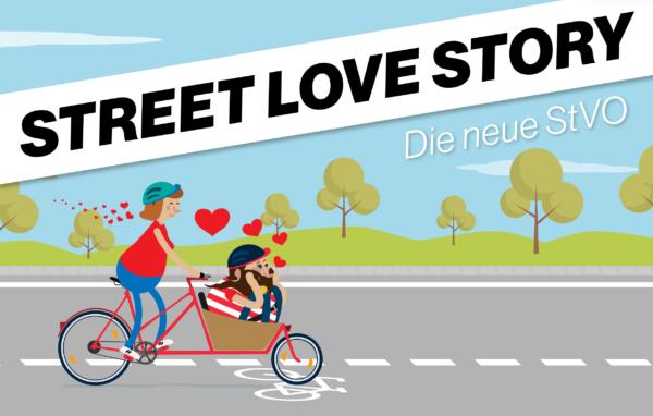 Street-Love-Story. Grafik: Bundesverkehrsministerium