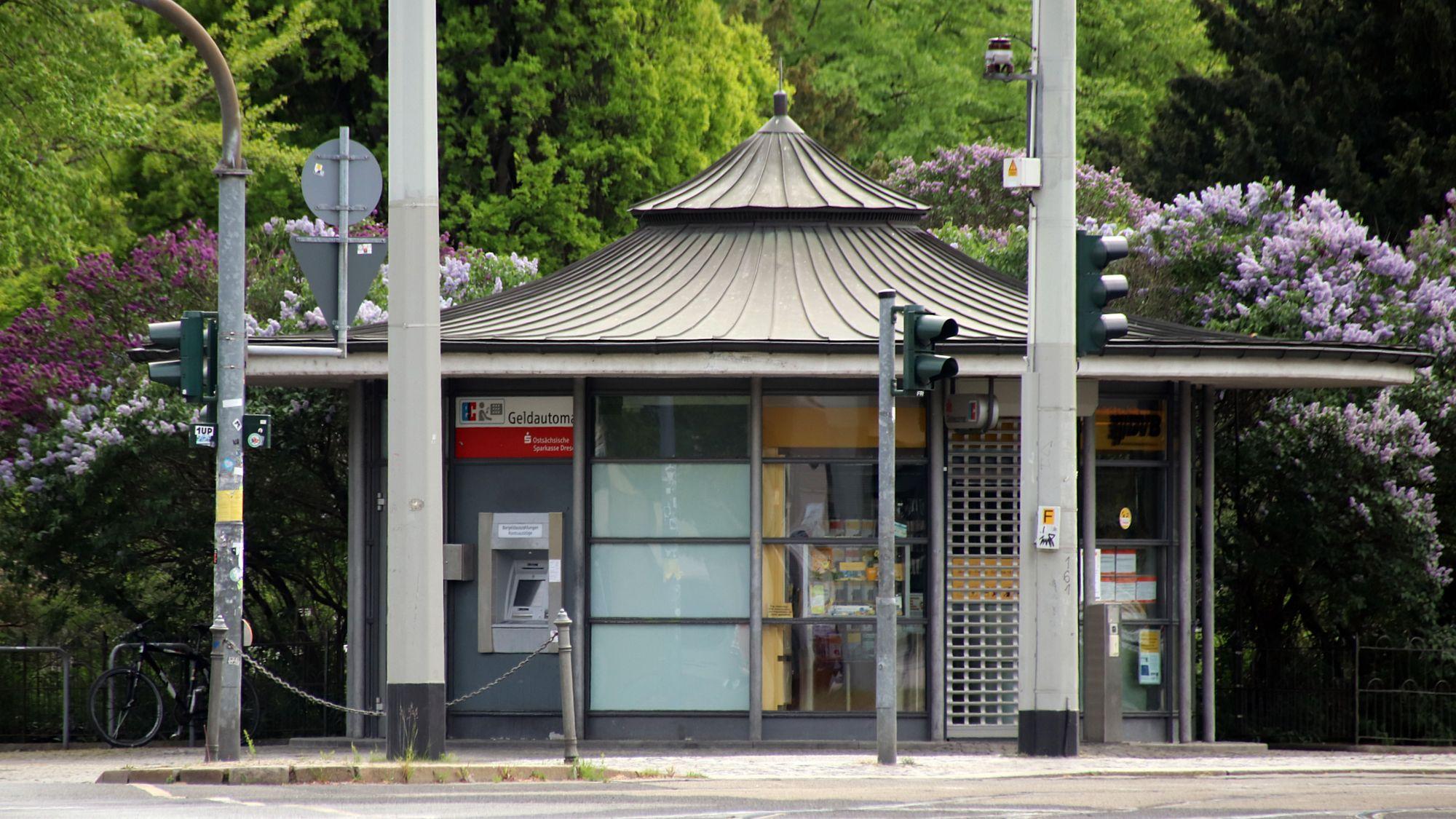DVB-Servicepunkt am Albertplatz - ab Montag wieder geöffnet.