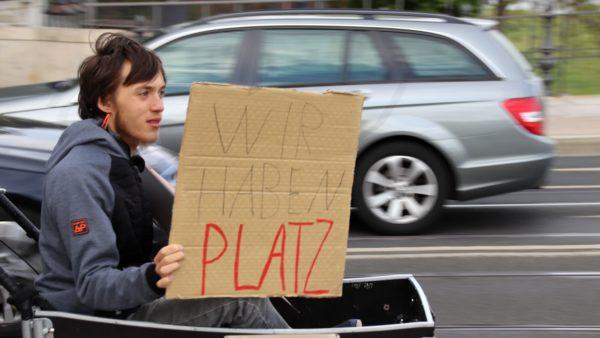 Laurenz Tschoche im Hungerstreik