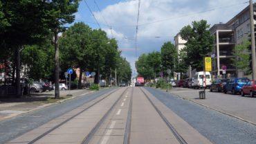 Zwischen Tannenstraße und Stauffenbergallee werden ab Donnerstag Gleise ausgetauscht.