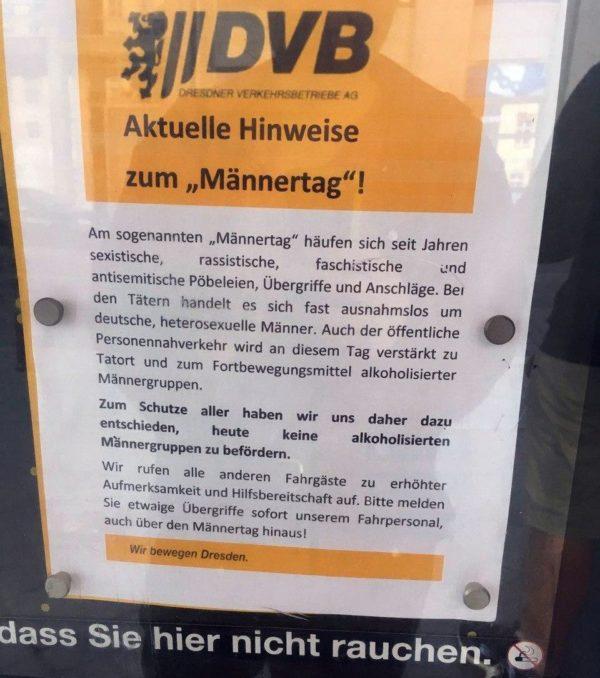 """""""Aktuelle Hinweise"""" - jedoch nicht von den DVB - Foto: Filou"""