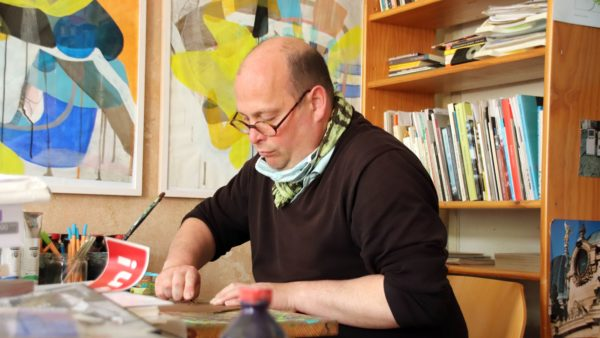 Frank K. Richter-Hoffmann bei der Arbeit