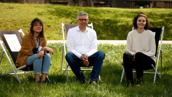 Katharina Hertel, Jörg Polanz und Sabrina Schwab vom diesjährigen Team des Palais-Sommers.