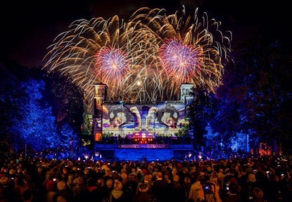 Feuerwerk über Schloss Albrechtsberg - Foto: PR/Schlössernacht