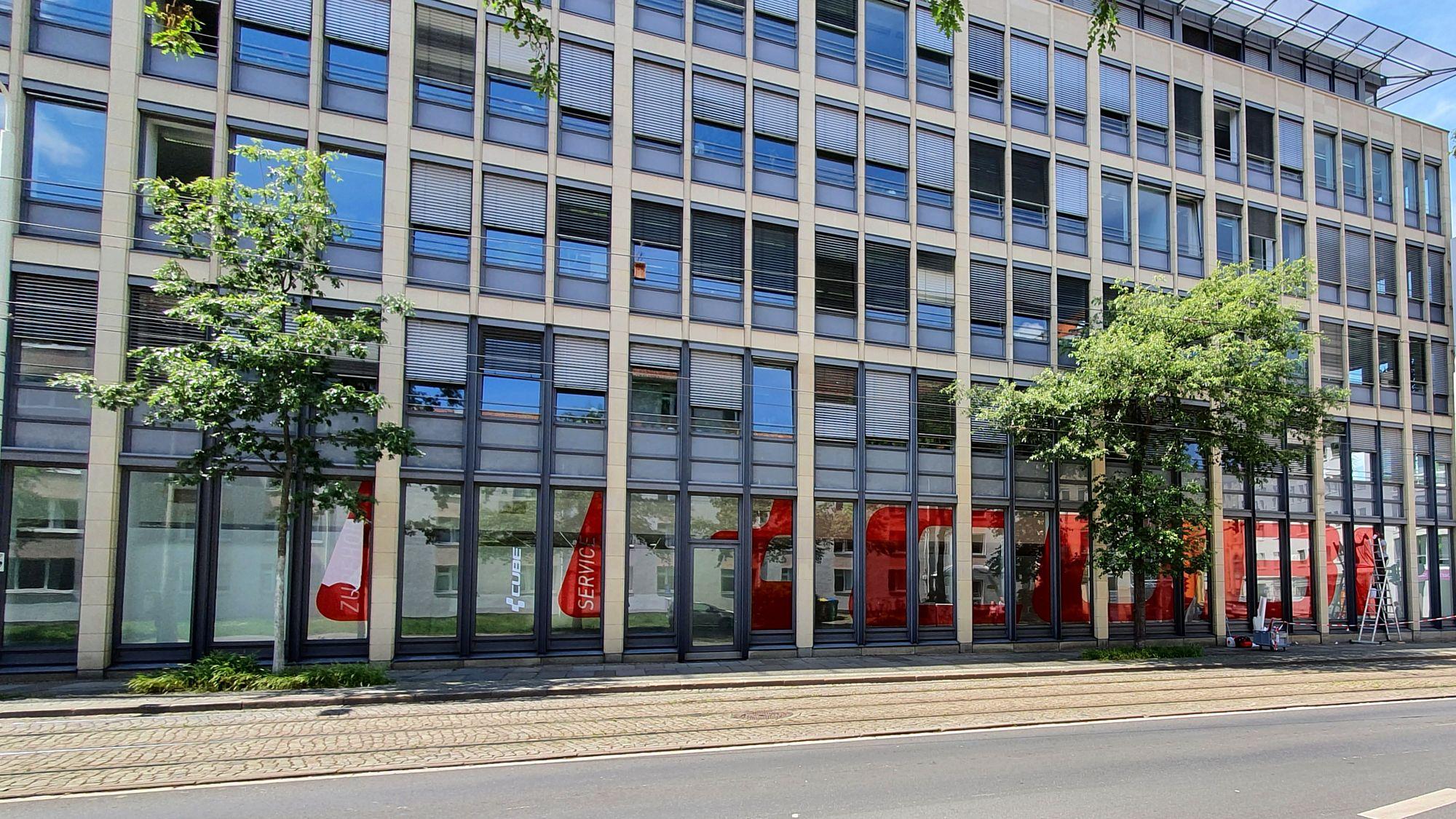 Neuer Cube-Store auf der Hoyerswerdaer Straße.