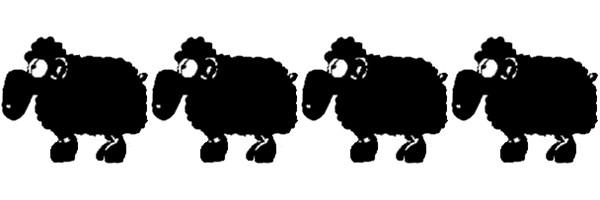 Die Zeichnung des Schwarzens Schafs entstand 1992. Zeichnerin Sanne hatte nur die Umrisse skizziert. Später wurde es flächig mit Filzer ausgemalt. Bild: Archiv Anton Launer