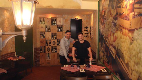 Koch Oliver und Restaurant-Chef Marcel
