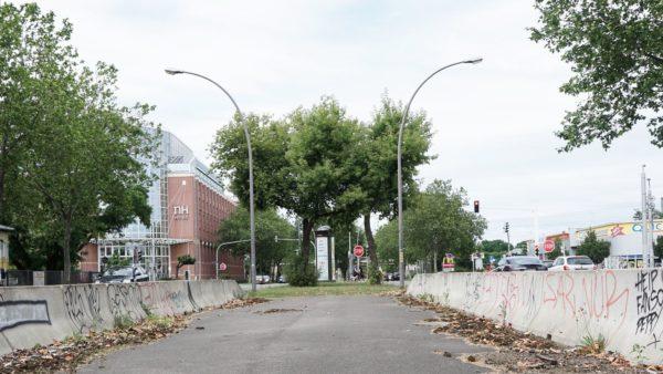 Trotz der vielen Bäume lädt die Hansastraße wenig zum Flanieren ein. Ihren Zweck erfüllt sie allemal.