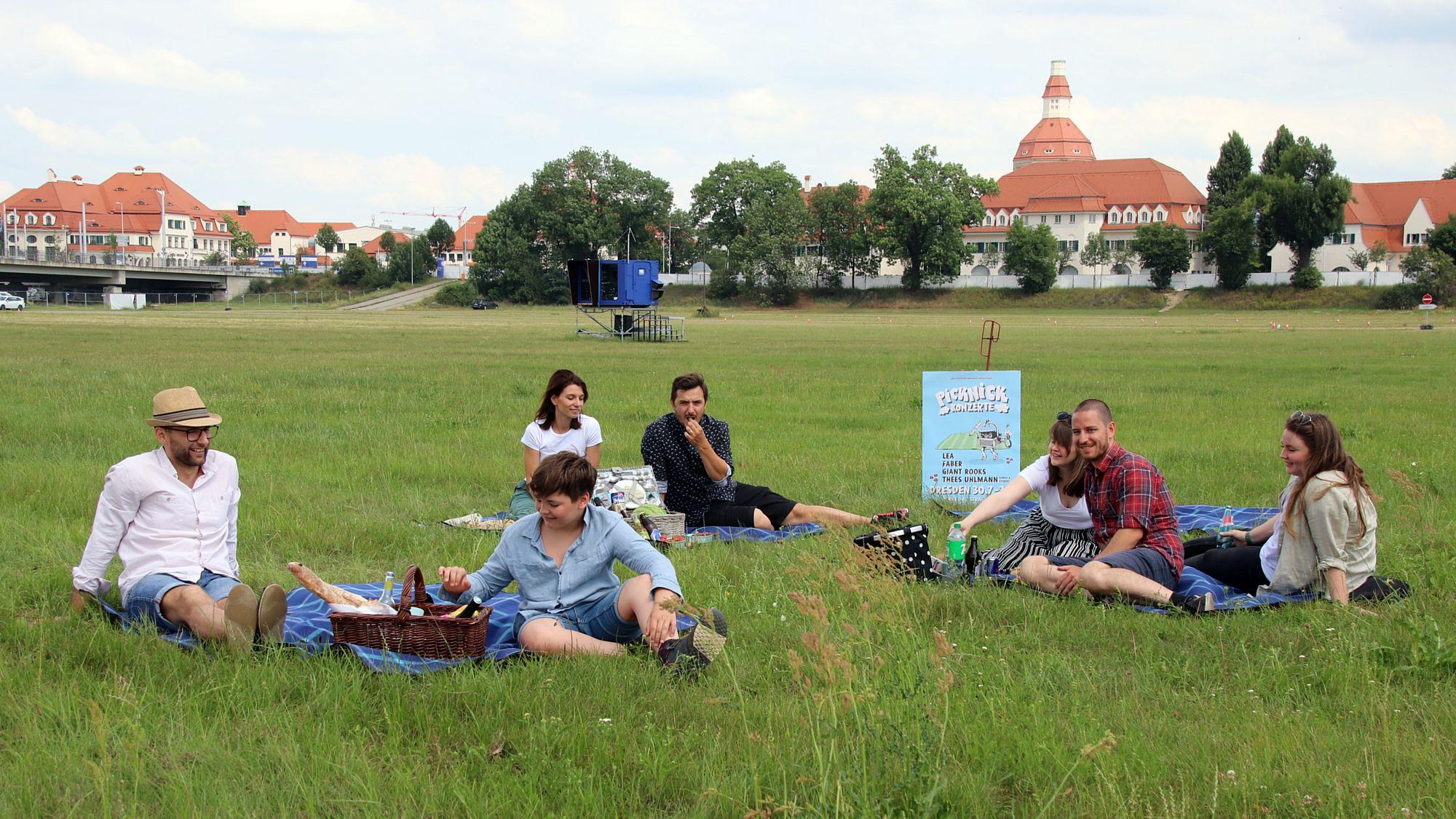 Picknick-Konzerte in der Rinne.