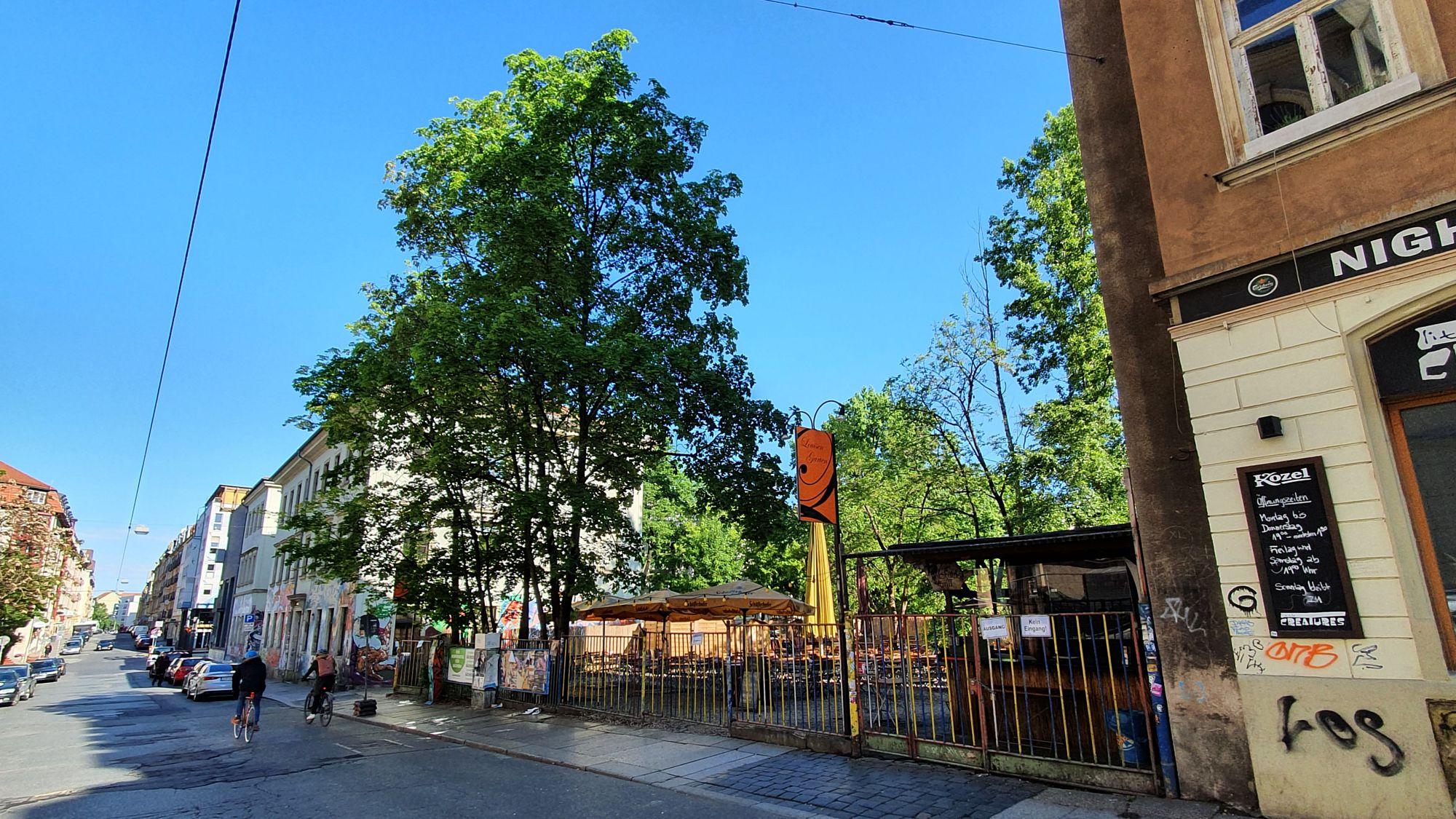 Louisengarten in der Louisenstraße