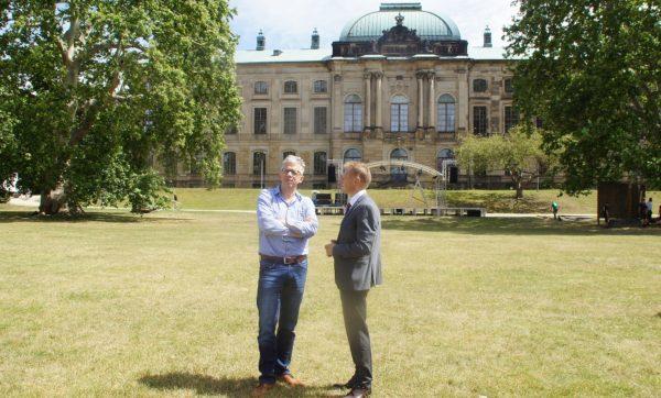 Jörg Polenz im gespräch mit Dr. René Naumann vom hauptsponsor Consus Real Estate.