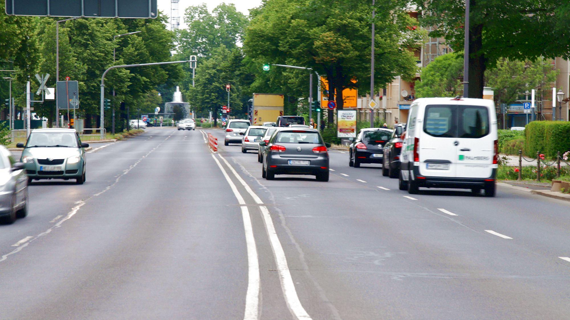 Albertstraße bekommt Radspuren
