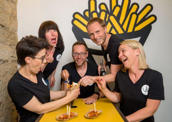 """""""Curry & Co""""-Team (v.l.): Simone und Susanne Meyer-Götz, Felix Heine, Andreas Längricht, Kathleen Hertwig"""