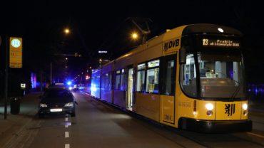 Unfall an Straßenbahnhaltestelle