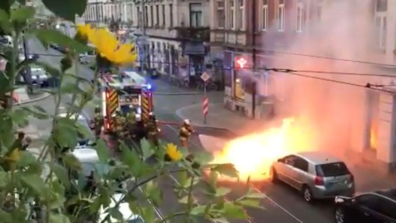 Brand auf der Rothenburger Straße