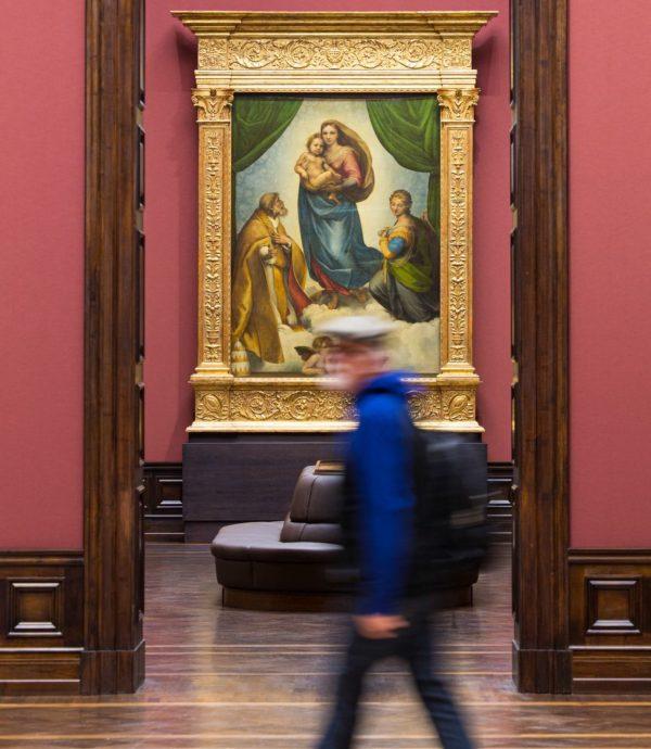 """Der Star der Sammlung Raffaels """"Sixtinische Madonna"""" - Foto: Oliver Killig"""