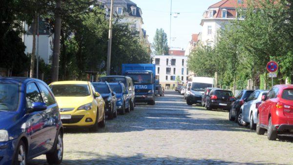 Ab Montag gesperrt - die Schönbrunnstraße
