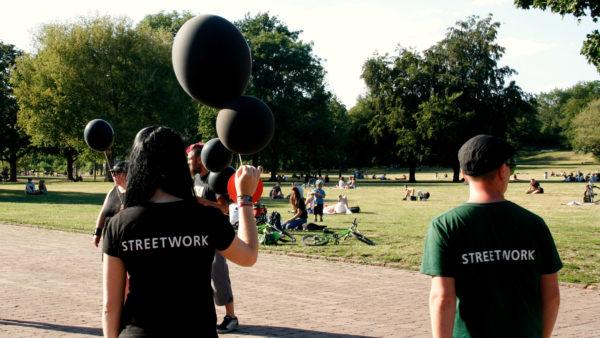 Die Streetworker von SafeDD sind unter anderem auch in der Neustadt unterwegs.