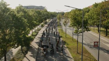 Etwa 600 Fahrradfahrer*innen nahmen an der Demo teil
