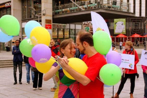 Auf der Prager Straße ging alles los. foto: Tango/Theater - offen und bunt