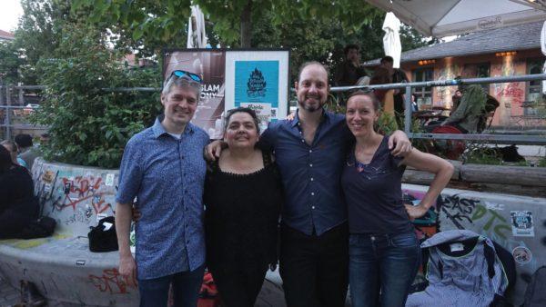Der Kern der Tango-Familie: Damaris Ehninger, Cristian Javier Castaño, María Tapia de Kordt und ihr Mann. (von rechts nach links)