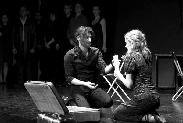 Der Krieg, das Versagen der Völker. Aufführung 2019 im Kleinen Haus. Foto: Tango/Theater - offen und bunt