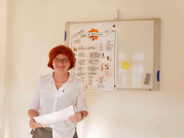Verena ist nicht nur Projektleiterin von LebensBILD, sondern eigentlich Orientalistin, Ethnologin und Religionswissenschaftlerin. Foto: Elena Pagel