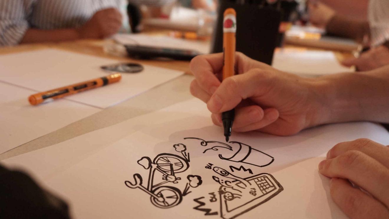 Zeichnerische Annäherung an das eigene Leben.