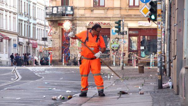 Roland Vogt von der Stadtreinigung Dresden