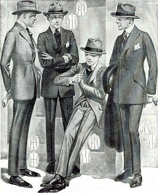 Männer vor 100 Jahren
