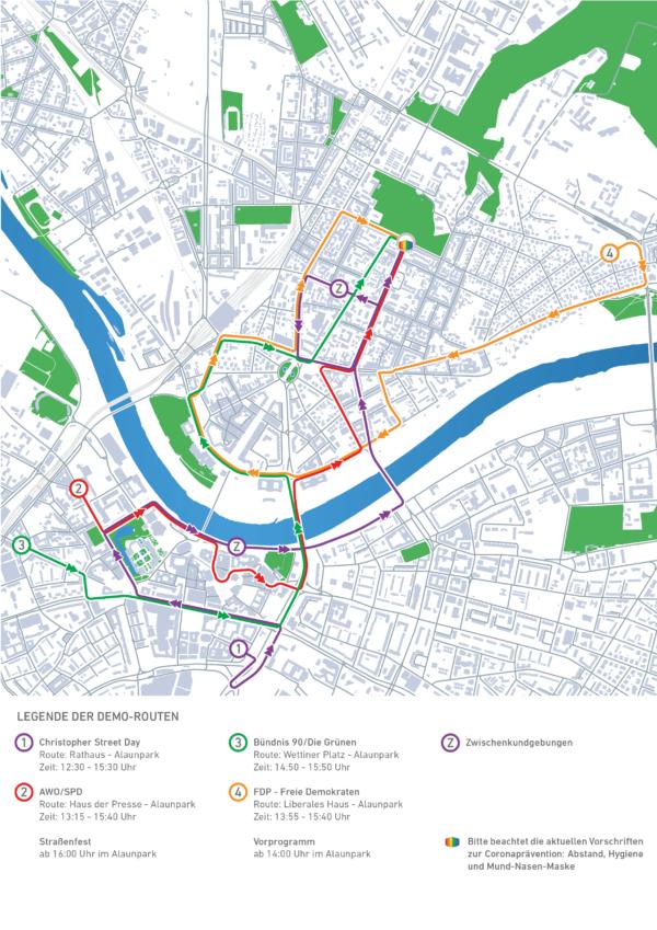 Der CSD 2020 findet in Dresden auf vier Routen statt. Foto: Phil Grafe
