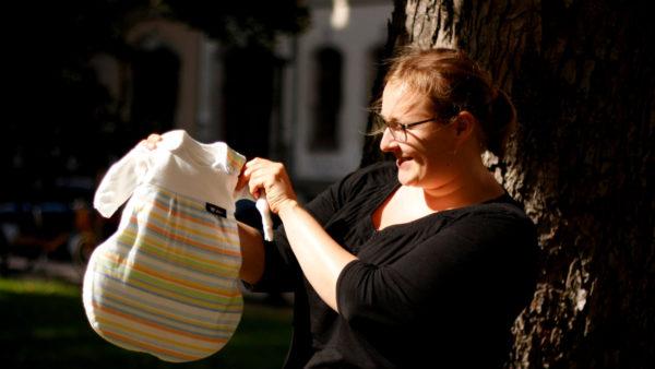 So klein ist zum Beispiel ein Schlafsack für Frühgeborene.