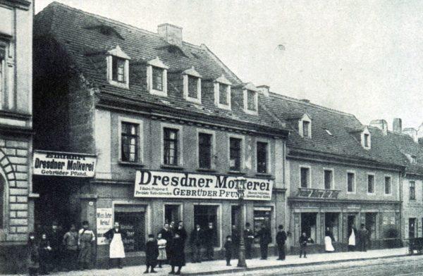 Firmengründung am 9. September 1880 - Bautzner Straße 41 Foto: Archiv Pfunds