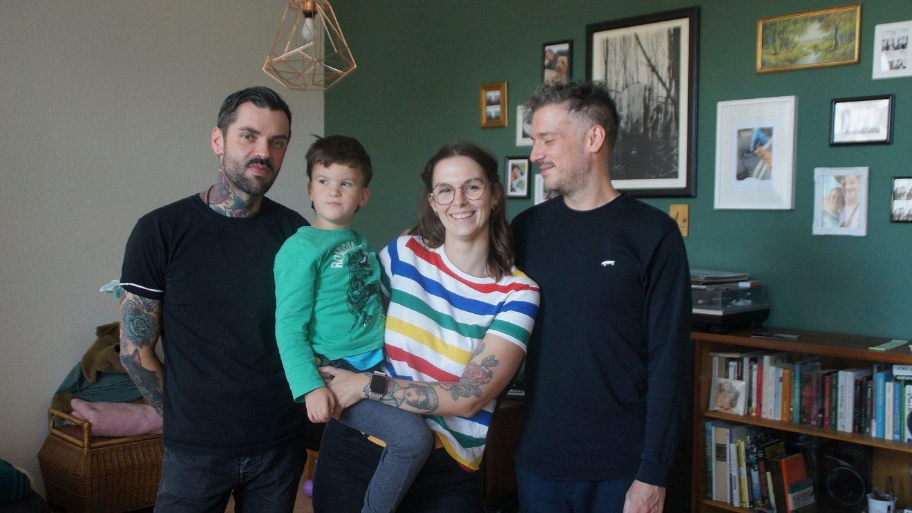 Finn und seine Familie sammeln Spenden für einen Begleithund. Foto: Philine
