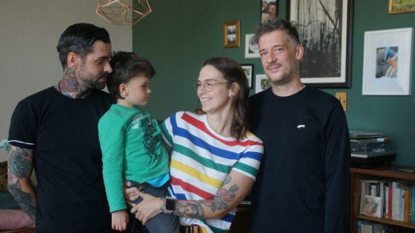 David, Finn, Ivonne und Lars.
