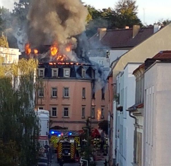 Brand auf der Buchenstraße - Foto: Privat