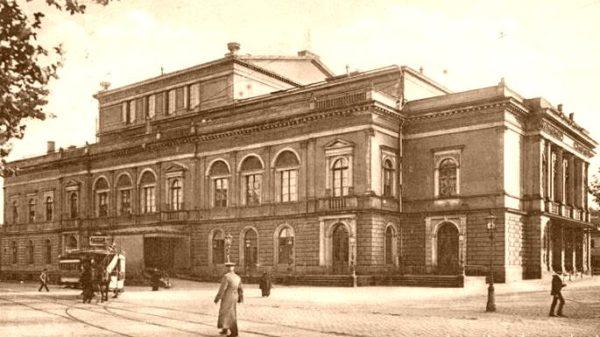 Alberttheater am Albertplatz - Postkarte von 1920