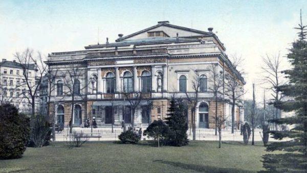 Alberttheater am Albertplatz - Postkarte von 1913