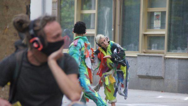"""Premiere von """"Asphaltwelten I"""" auf der Hauptstraße. Foto: Philine"""