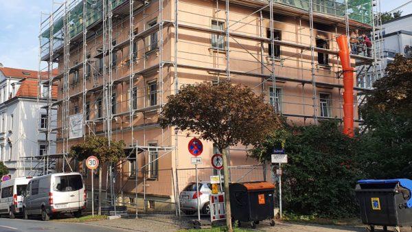 Das ausgebrannte Haus an der Buchenstraße.
