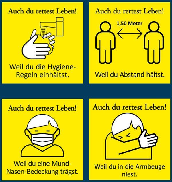 Rücksicht rettet Leben. Grafik: Landeshauptstadt Dresden