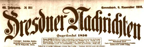 Dresdner Nachrichten von 1918