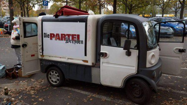Das Partei-Mobil zu besseren Tagen. Foto: Die Partei