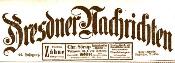 Dresdner Nachrichten von 1899