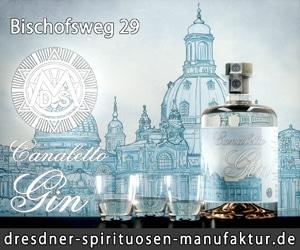 Canaletto-Gin der Dresdner Spirituosen Manufaktur