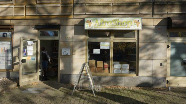 So sieht der Afro-Shop von außen aus.