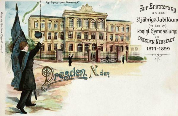 Jubiläumspostkarte für das Königliche Gymnasium