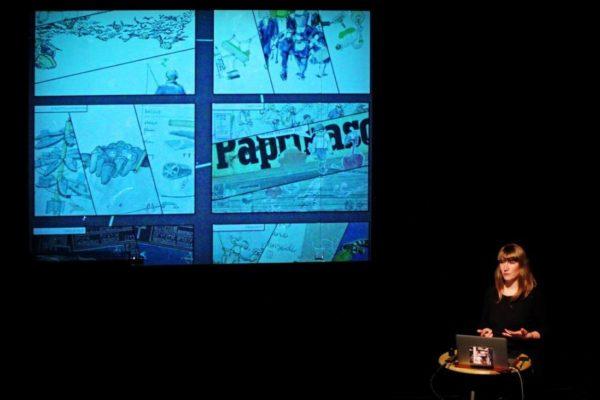 Die Neustädter Künstlerin Kendike stellt ihre Illustrationen vor. Foto: Amac Garbe