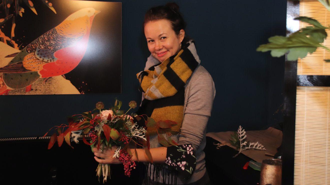 Maria Bernhardt verkauft ab sofort Blumen auf der Rothenburger Straße.