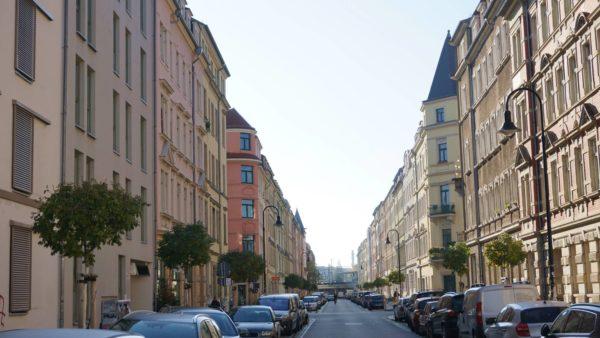 Auf dem unteren Teil der Hechtstraße blühte zu DDR-Zeiten eine alternative Szene mit illegalen Treffs und Cafés.